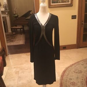 Lafayette 148 vintage 90s long sleeve dress